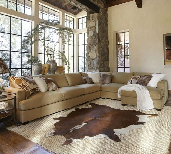 Pinterest o the worlds catalog of ideas for Sectional sofa how to arrange