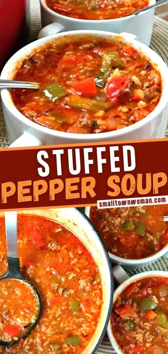Stuffed Pepper Recipe In 2020 Stuffed Peppers Stuffed Pepper Soup Chowder Recipes