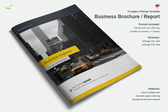 Brochure template - 14 pages-V77 by Template Shop on Creative - sample college brochure