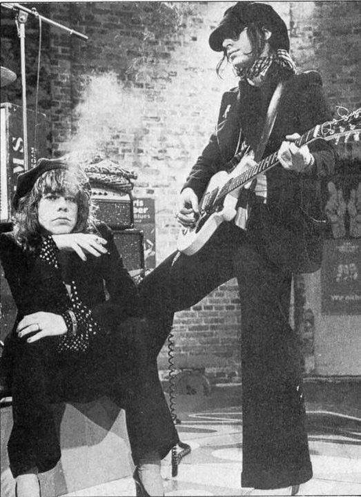 David and Johnny of The New York Dolls