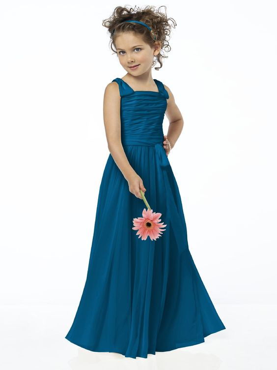 Ocean Blue Flower Girl