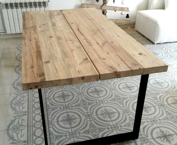 mesa estilo industrial la contra muebles fabricados a mano