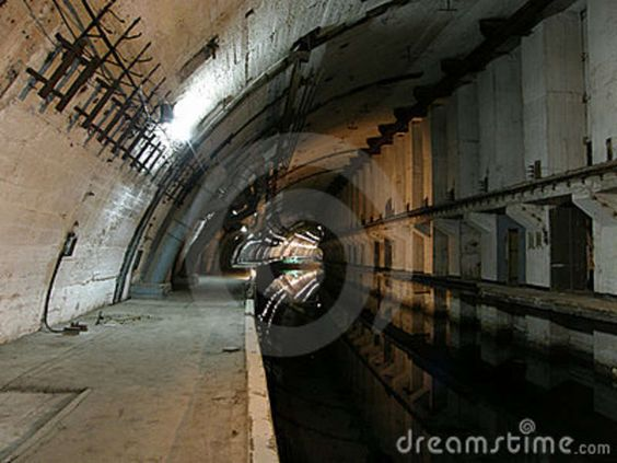Abandoned Military Underground Bunker | Underground Nuclear Shelter For Submarines Stock Image - Image ...