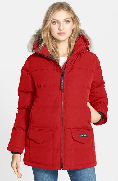 Canada Goose womens sale shop - CANADA GOOSE 'Solaris' Regular Fit Down Parka With Genuine Coyote ...