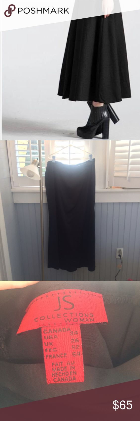 Black formal a-line skirt