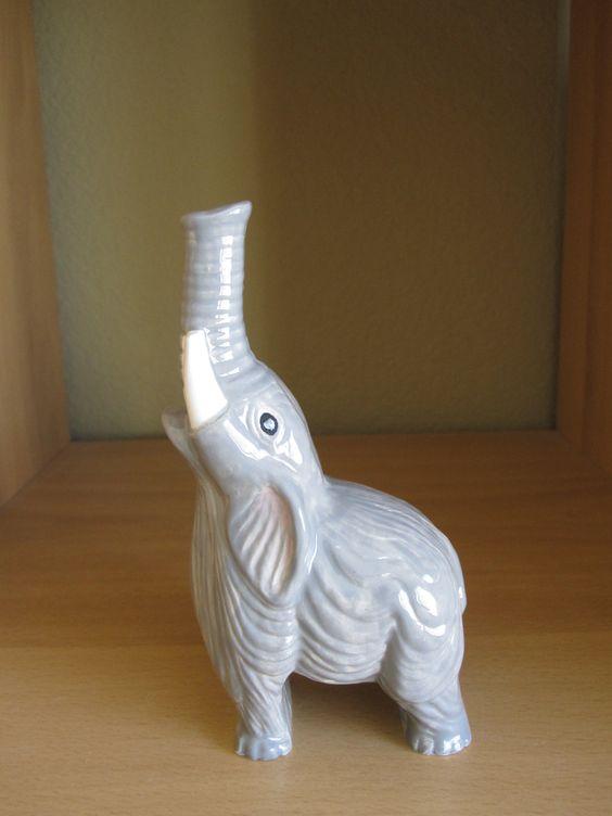 Elephant Bud Vase Ceramic Handmade. $18.00, via Etsy.