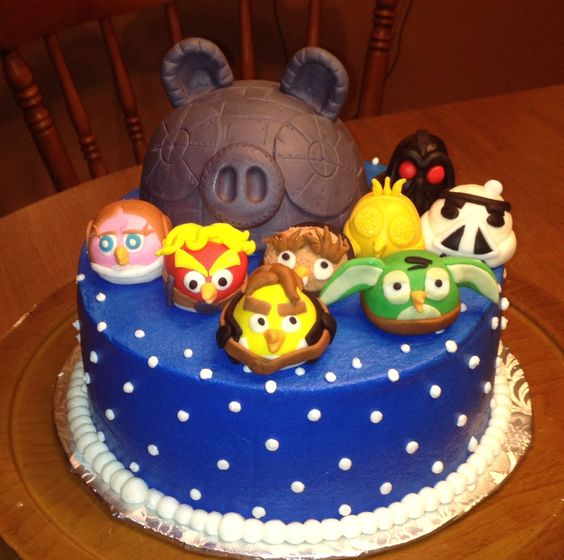 Angry birds star wars cake cakes pinterest cakes for Angry birds cake decoration kit