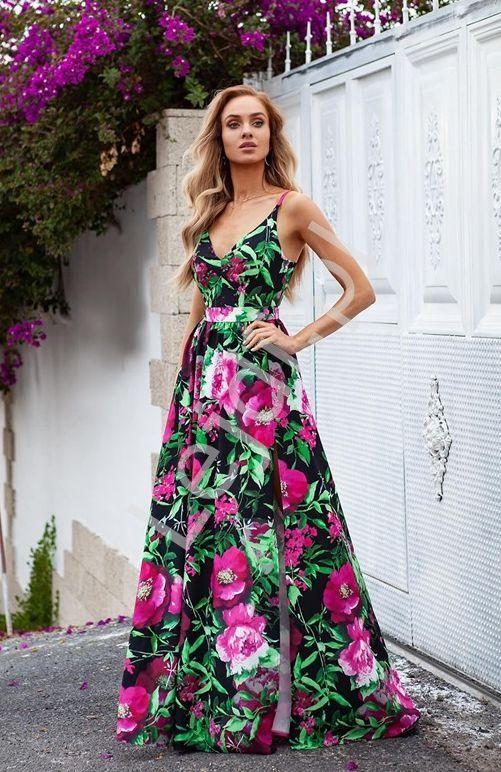 Dluga Kwiatowa Sukienka W Fuksjowe Piwonie Emo Nina Druhny Wesele Dresses Maxi Dress Fashion