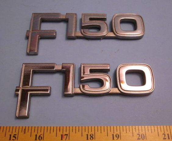 Ford F-150 Factory Chrome Body Emblems