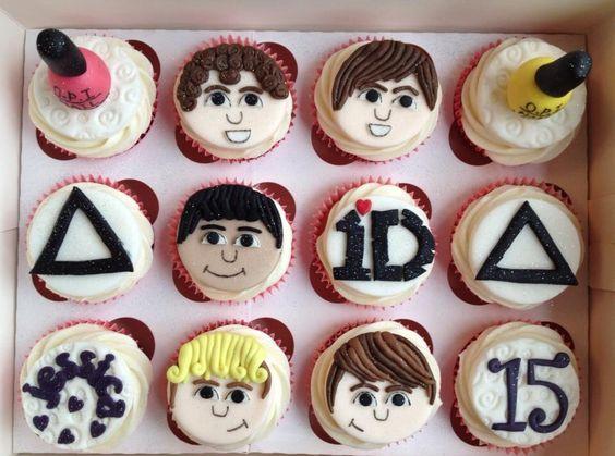 #cupcakes #1D #bastille #nailvarnish