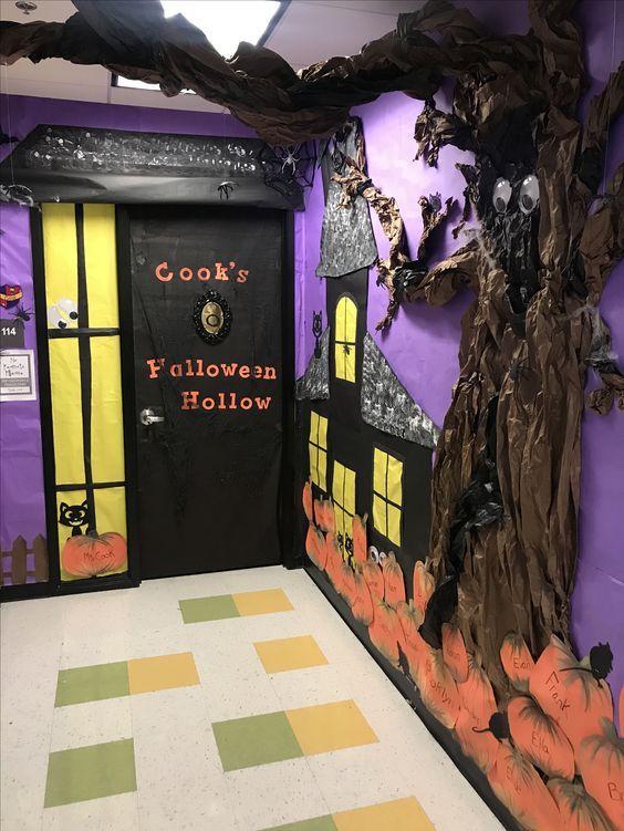 Halloween Classroom Decorations Which Are Scary Spooky Simply The Be Halloween Classroom Decorations Halloween Classroom Door Halloween Classroom Door Decor
