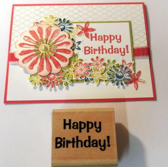 STAMPIN UP Bold Happy Birthday sentiment stamp   #Stampinup