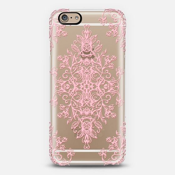 #pink #lace #transparent #iPhone6 #casetify #case #cover #micklyn Phone Case | iPhone 5s | Casetify | Graphics | Painting | Transparent  | Micklyn Le Feuvre