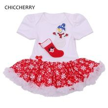 Snowmen and Socks Toddler Lace Tutu Christmas Rompers Baby Girl Christmas Outfits Creepers Jumpsuit New Born Infant Clothing(China (Mainland))