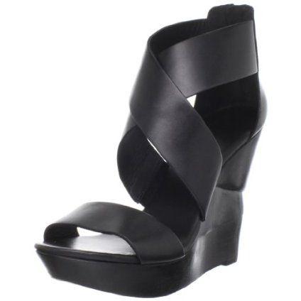 Diane von Furstenberg Women`s Opal Wedge Sandal,Black,7 M US $295.00 -- but target has similar ones...