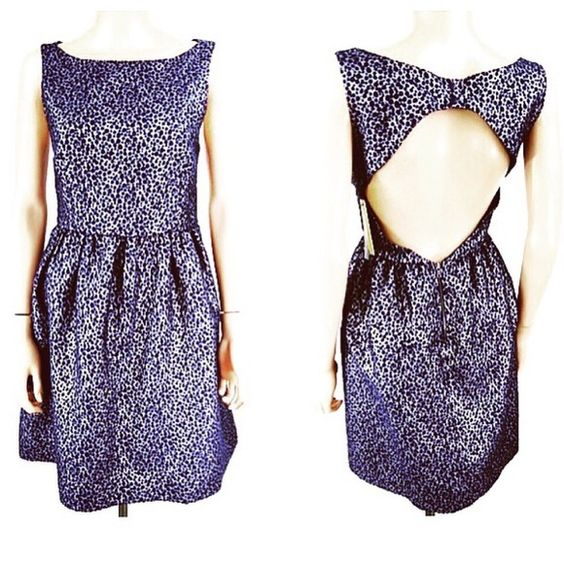 NWT Alice + Olivia Lilyanne Dress size 8 New with Nordstrom Rack tags Alice + Olivia Lilyanne Dress Metallic Silver Navy Dots size 8. Belt not included. No trades, offers welcome. Alice + Olivia Dresses