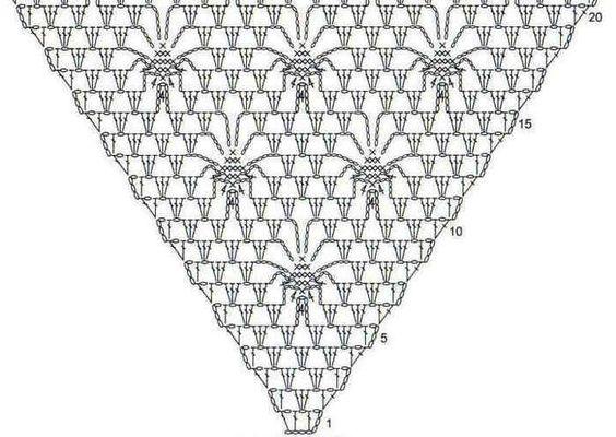 spider stitch shawl pattern