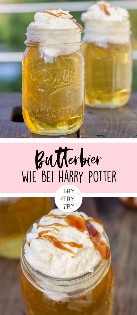 Butterbier wie bei Harry Potter // #harrypotter #butterbier // Magisches Getränk für Halloween oder Partys