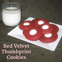 Red Velvet Thumbprint Cookies - yuuuuum
