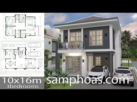 Home Design 10x16m 4 Bedrooms Home Ideas Home Design 10x16m 4 Bedrooms Home De In 2020 Philippines House Design Two Story House Design Architectural House Plans