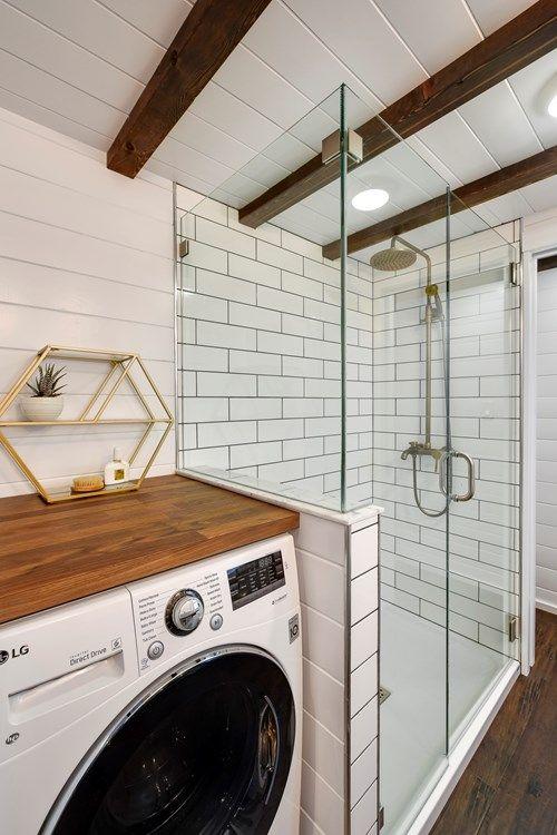 Tiny Home Bathroom Layout Inspiration Tiny Home Shower And Laundry Bathroom Layout Laundry In Bathroom Tiny House Bathroom