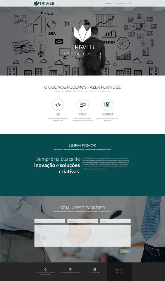 Site Desenvolvido para TRIWEB - Agência Digital, agência de desenvolvimento web.  #FrontEnd #Wordpress