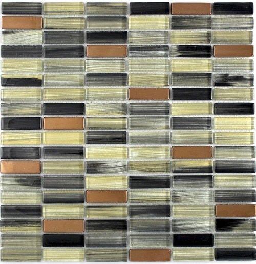 Modern Glass Mosaic Tile Bronze Glass Mosaic Tiles Mosaic Tiles Modern Glass