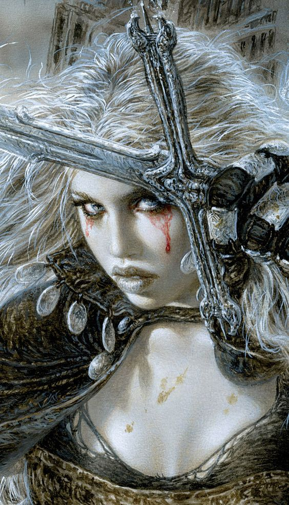 -Did you just drop this, or did you throw it at me...?     Luis Royo