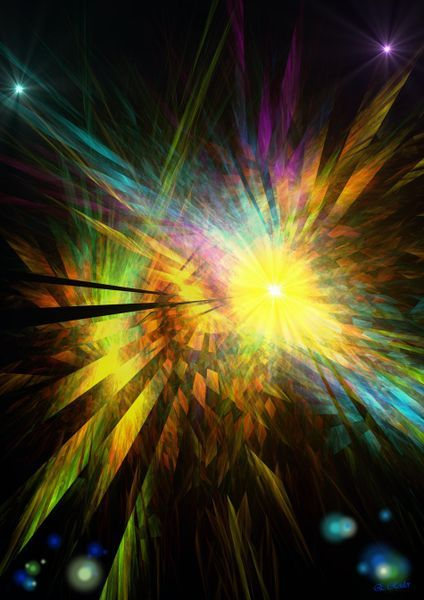 'Colorful Starshine' by Eckhard Röder on artflakes.com as poster or art print $16.63