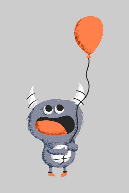 Happy Monster Illustration Cute monster littlechi...