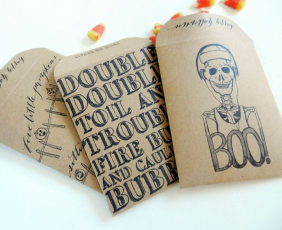 DIY Halloween Goody Bags - The Postman's Knock