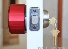 August Smart Lock: Device fits over deadbolt and is unlocked via signal from smartphone. Method of letting in someone to your house when you're not there without giving out key. Or letting yourself in when you can't find your own key....