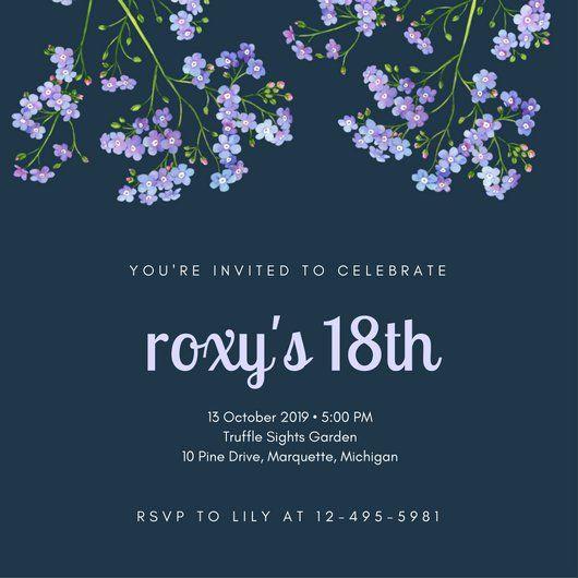 Nice Free 18th Birthday Invitations Wording Birthday Dinner Invitation Birthday Invitation Templates 18th Birthday Party