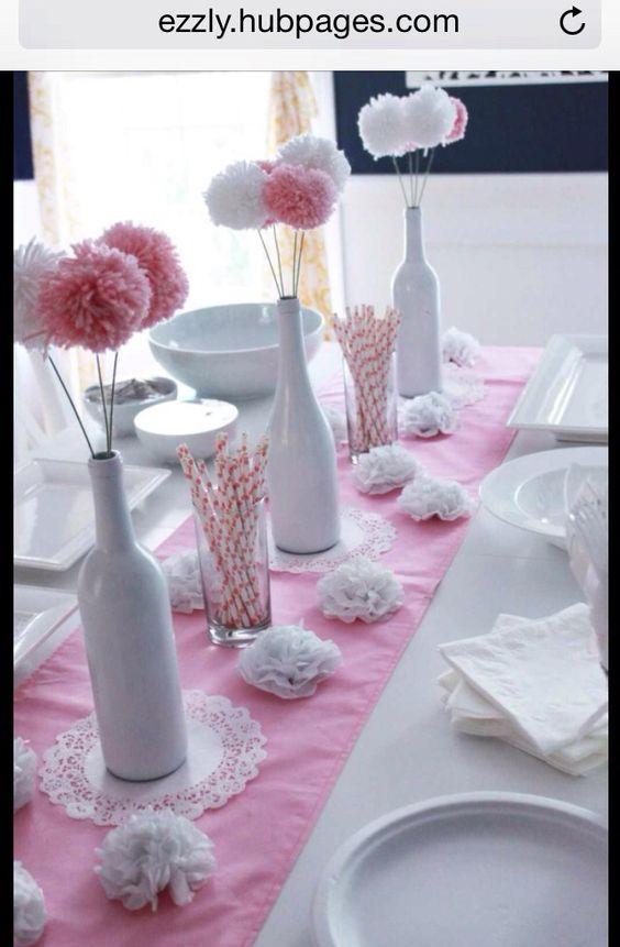 Pinterest the world s catalog of ideas - Centros de mesa con botellas ...