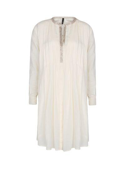 MANGO - Vestido algodão contas