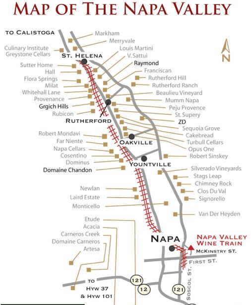 Napa Valley has 14 microclimates each producing different style of wines. http://tomsfoodieblog.com/2013/04/22/napa-valley-gastronomic-tour-understanding-napa-valley-regions/
