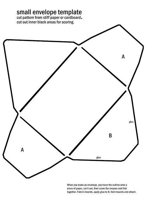 Diy Mini Envelopes Free Printable Pattern Tutorial Mini