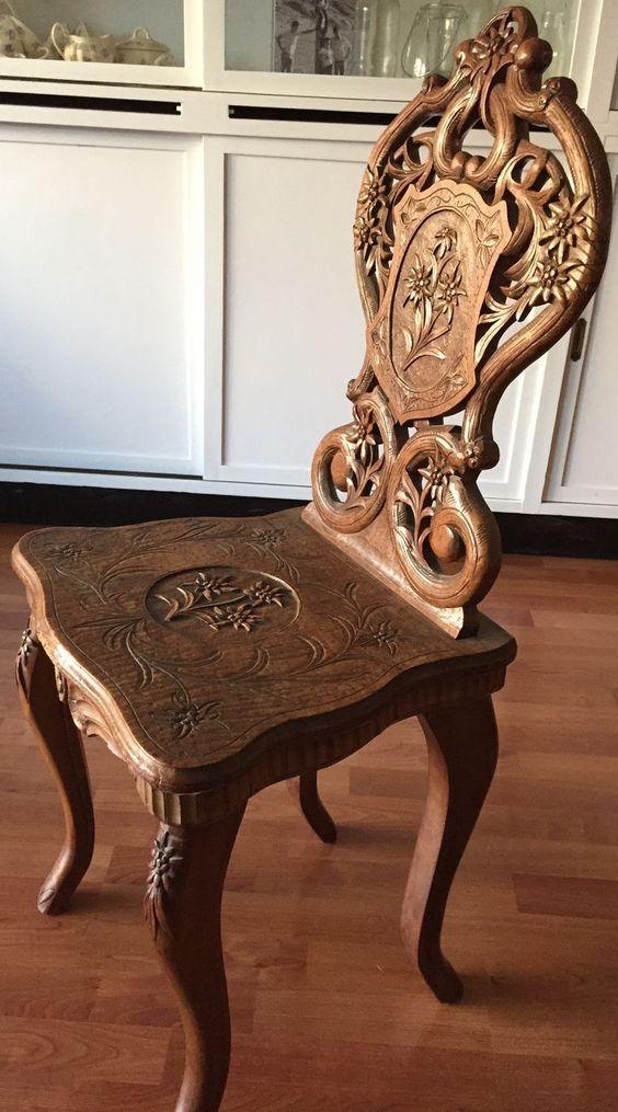 kursi kayu ukir