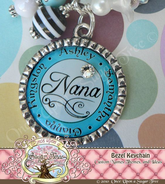 nana grandma keychain personalized by onceuponasugartree on etsy some grandmas go the. Black Bedroom Furniture Sets. Home Design Ideas