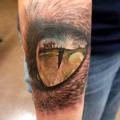 Cat Eyes Tattoo On Lower Back Meaning
