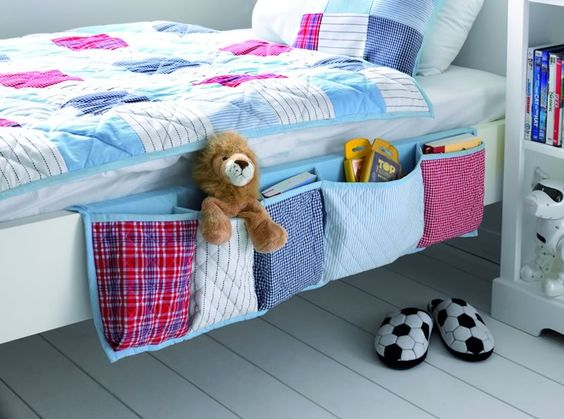 Sewing for the Home ~ Hanging Bed Organizer - It is the middle of the night. All of the lights have been turned down.