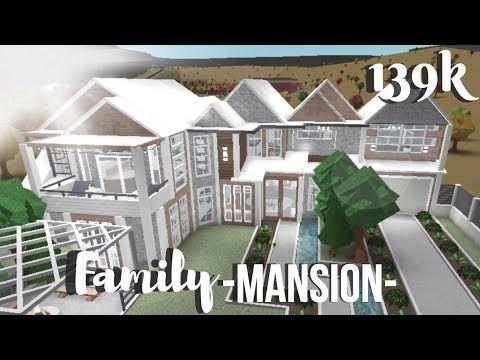 Roblox Bloxburg Family Mansion Youtube Family House Plans