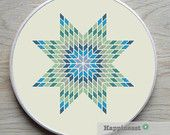 geometric cross stitch pattern, star, modern cross stitch, PDF ** instant download**