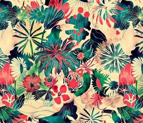 motifs 39 inspiration jungle colors papier peint. Black Bedroom Furniture Sets. Home Design Ideas