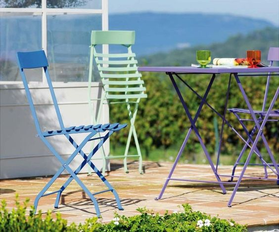 Delia Outdoor Folding Dining Chair