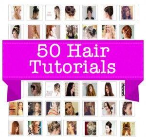 50 Hairstyles and Tutorials #hair #diy #tutorials