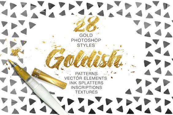 Goldish - Gold Styles with Bonus by Ruslan Zelensky on Creative Market