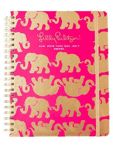 Lilly Pulitzer magenta print elephant print agenda