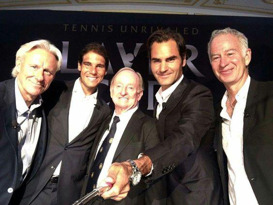 Selfie of Tennis Legends