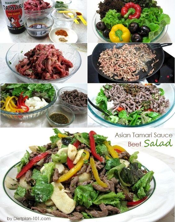 Asian Tamari Sauce Beef Salad (Atkins Diet Phase 1 Recipe) | Diet Plan 101